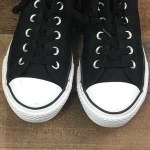 Converse Shoes - Converse Black Canvas Slip-On Mid-Top Sneakers